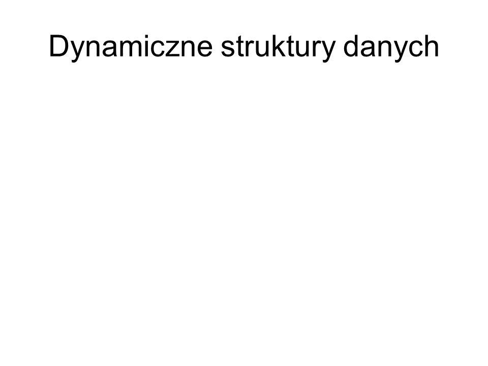 Dynamiczne struktury danych