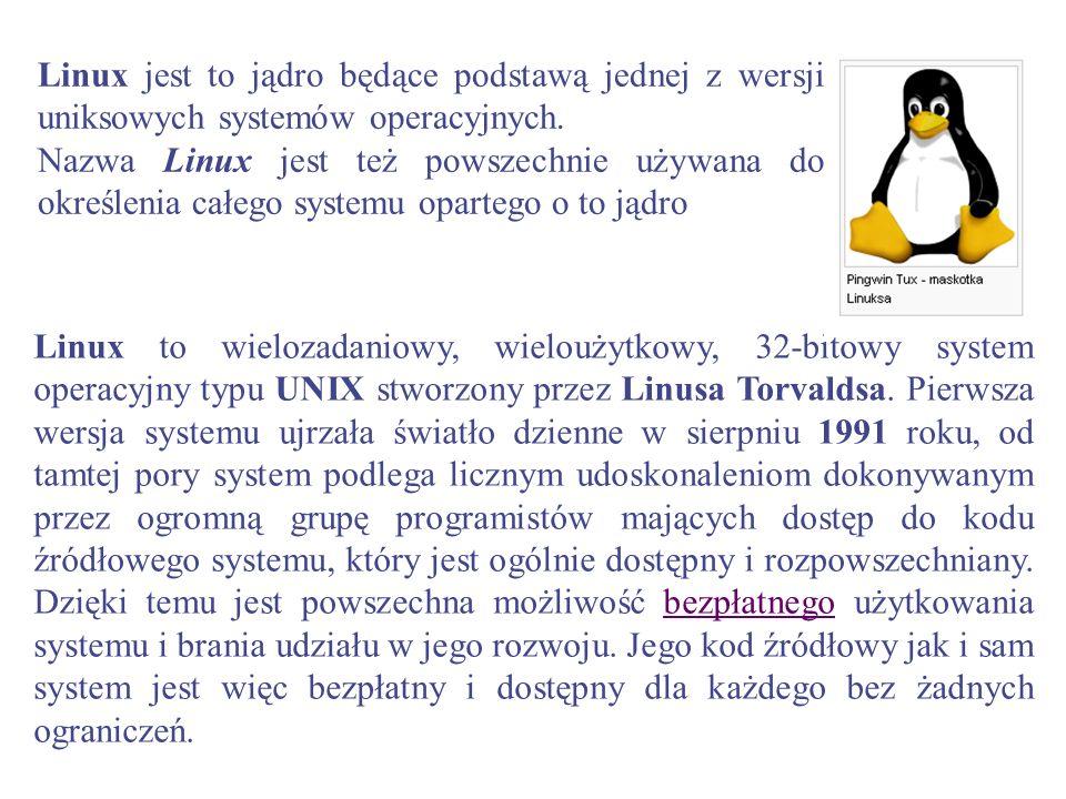 Linux jest to jądro będące podstawą jednej z wersji uniksowych systemów operacyjnych. Nazwa Linux jest też powszechnie używana do określenia całego sy