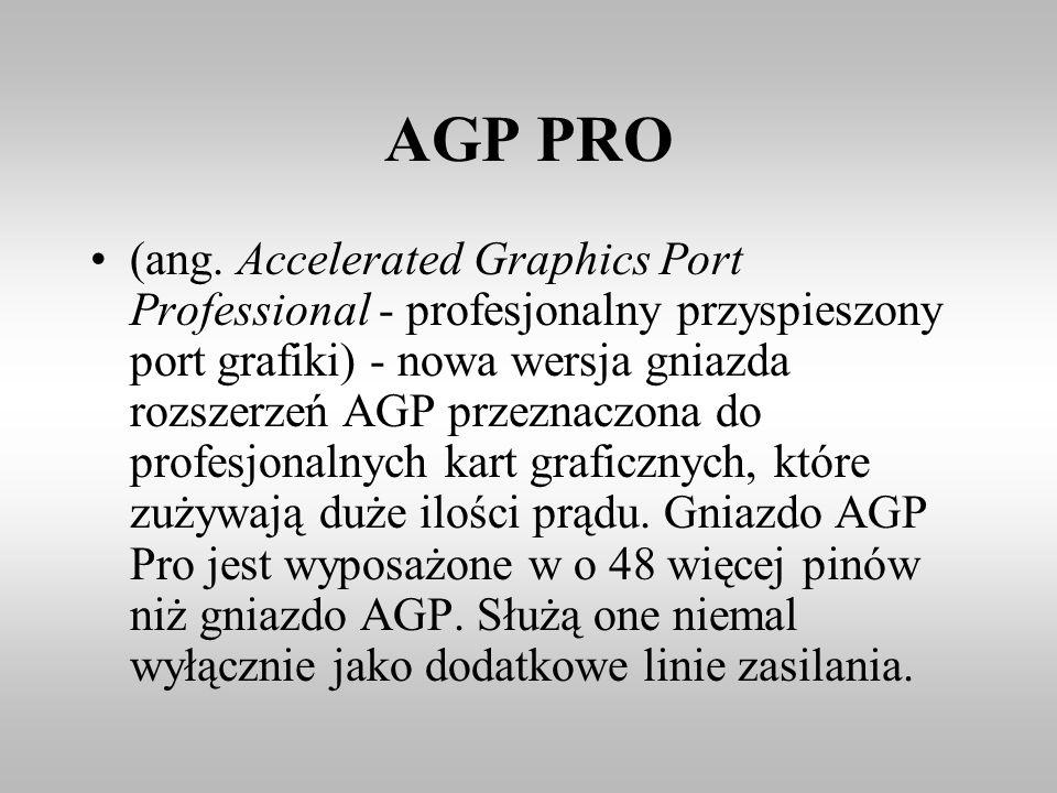 AGP PRO (ang. Accelerated Graphics Port Professional - profesjonalny przyspieszony port grafiki) - nowa wersja gniazda rozszerzeń AGP przeznaczona do