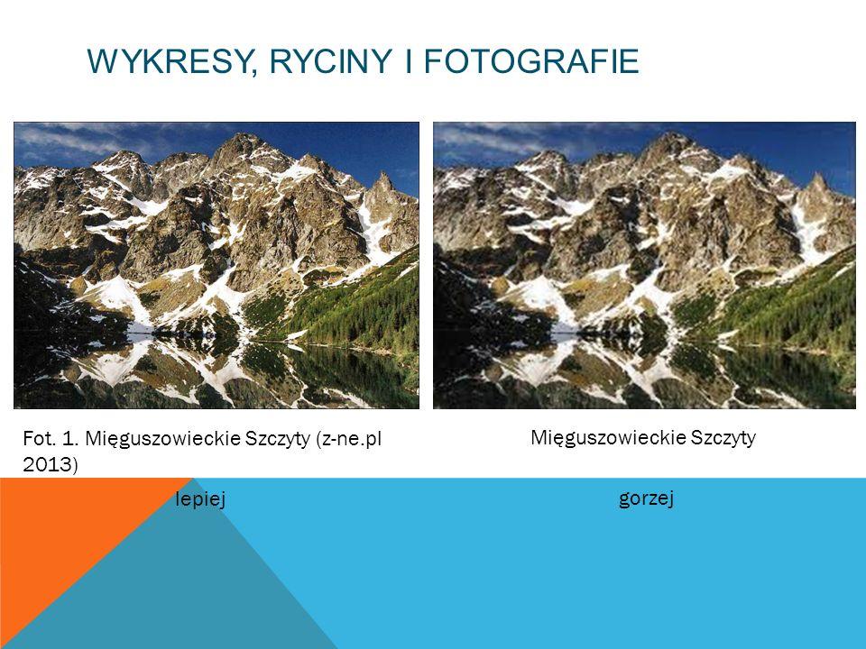 WYKRESY, RYCINY I FOTOGRAFIE Fot. 1. Mięguszowieckie Szczyty (z-ne.pl 2013) Mięguszowieckie Szczyty lepiej gorzej