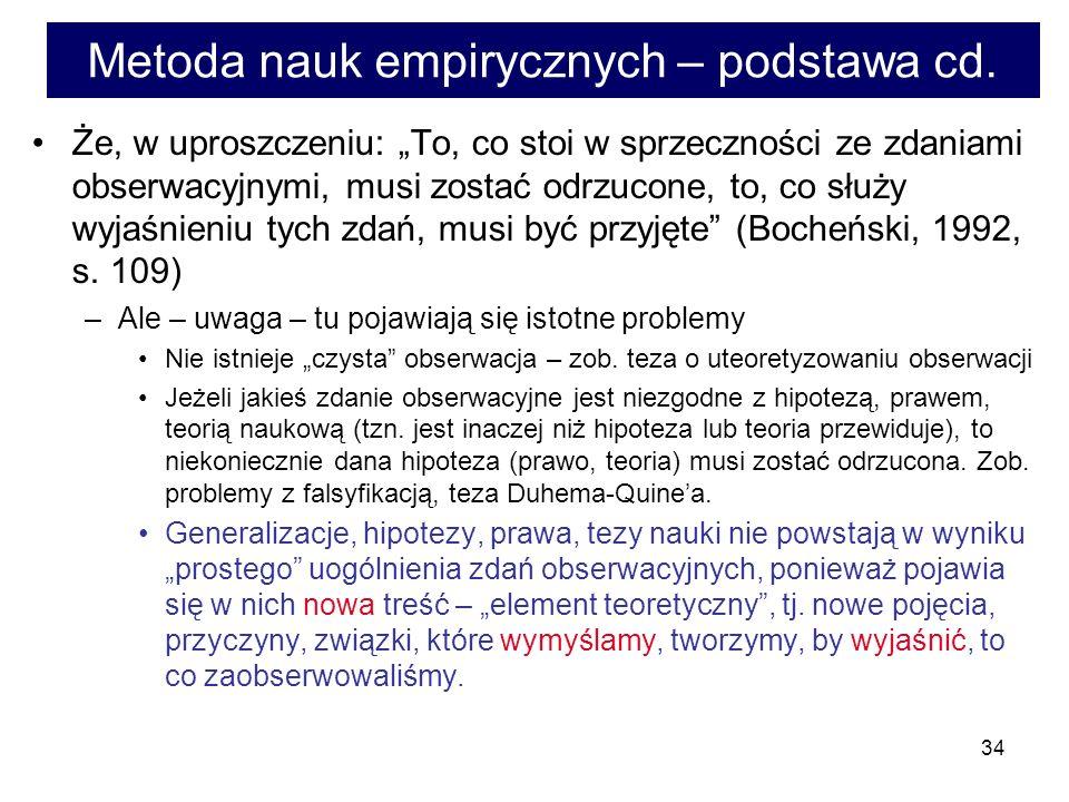 34 Metoda nauk empirycznych – podstawa cd.