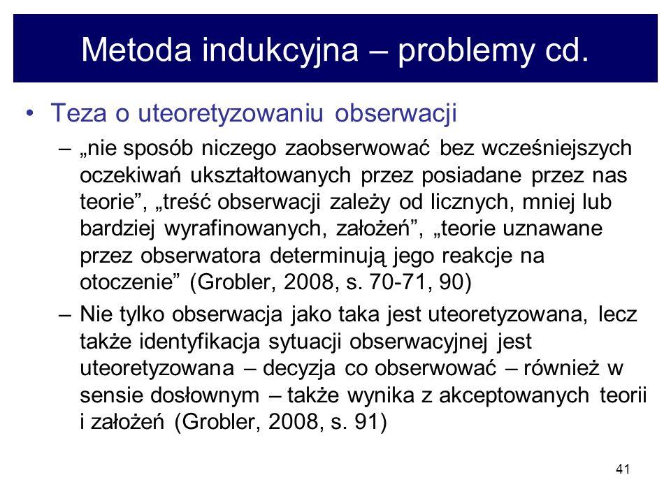 41 Metoda indukcyjna – problemy cd.