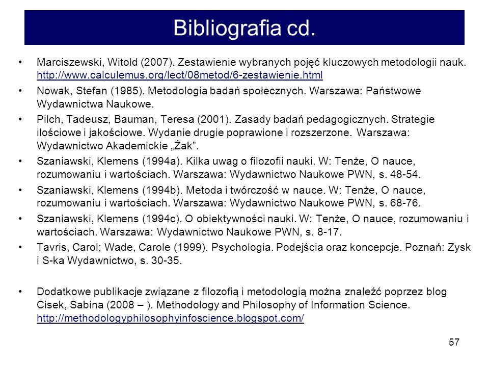 57 Bibliografia cd.Marciszewski, Witold (2007).