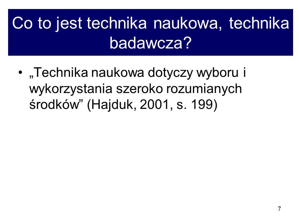7 Co to jest technika naukowa, technika badawcza.