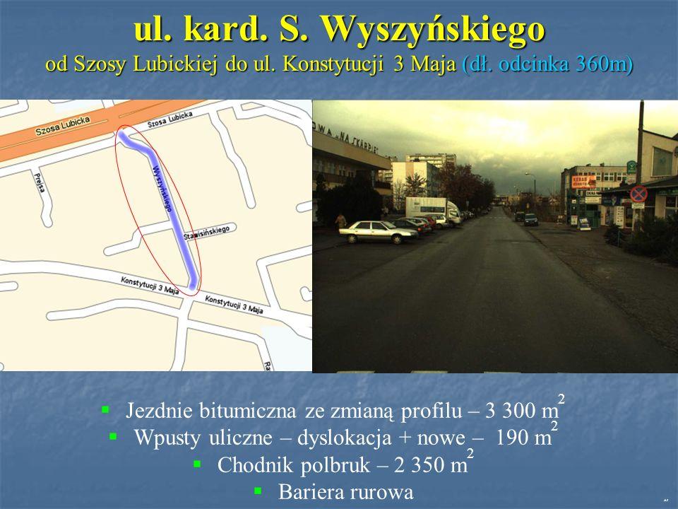 ul. kard. S. Wyszyńskiego od Szosy Lubickiej do ul.