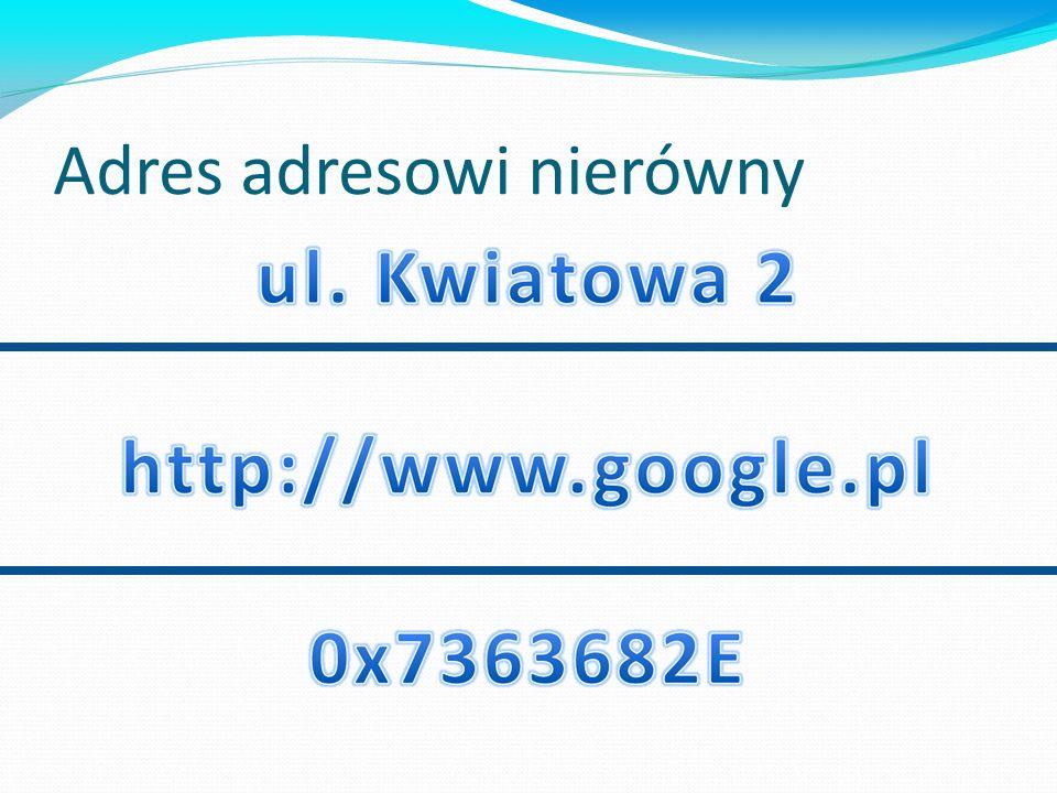 Adres adresowi nierówny