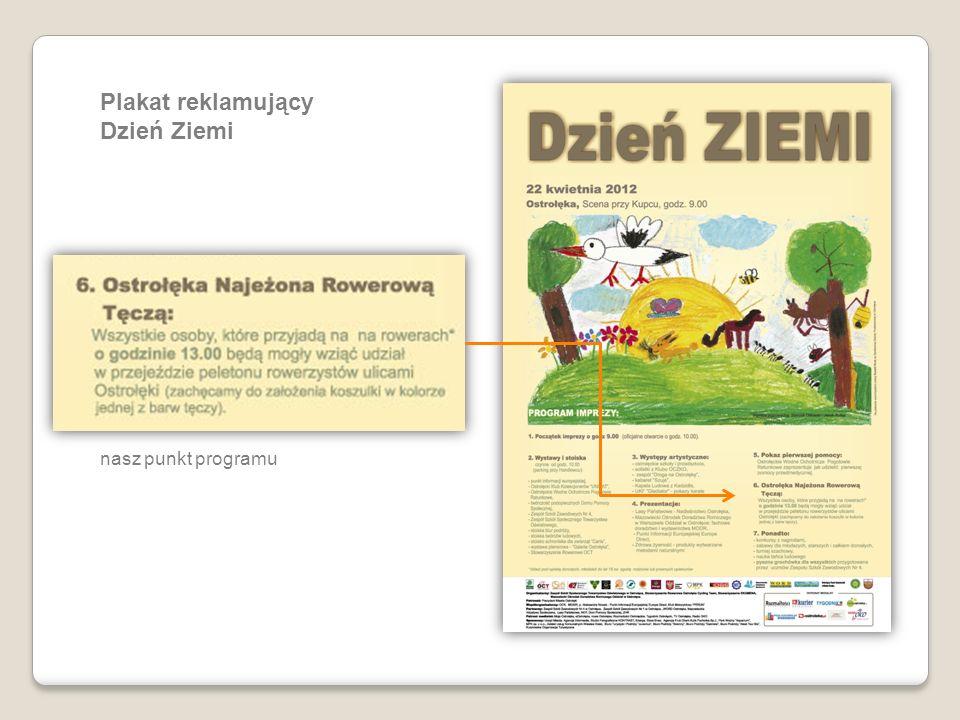 Plakat reklamujący Dzień Ziemi nasz punkt programu