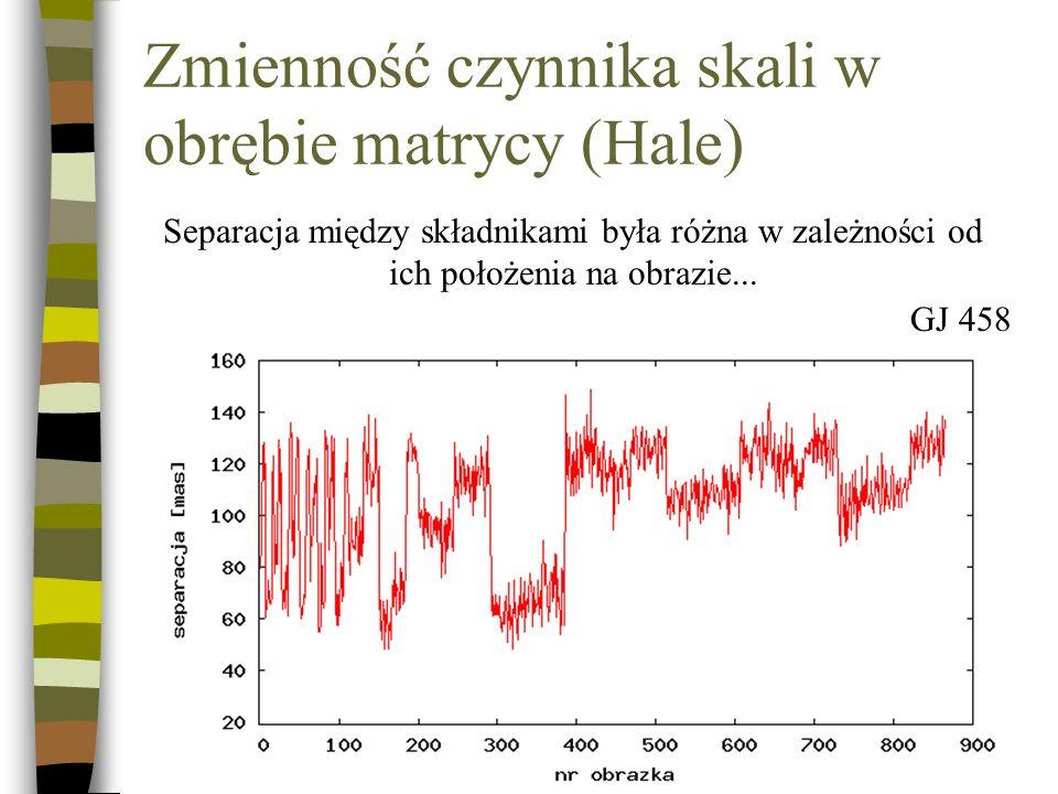 ...ale nawet przy podobnym położeniu gwiazd na matrycy różnice są spore. GJ 661
