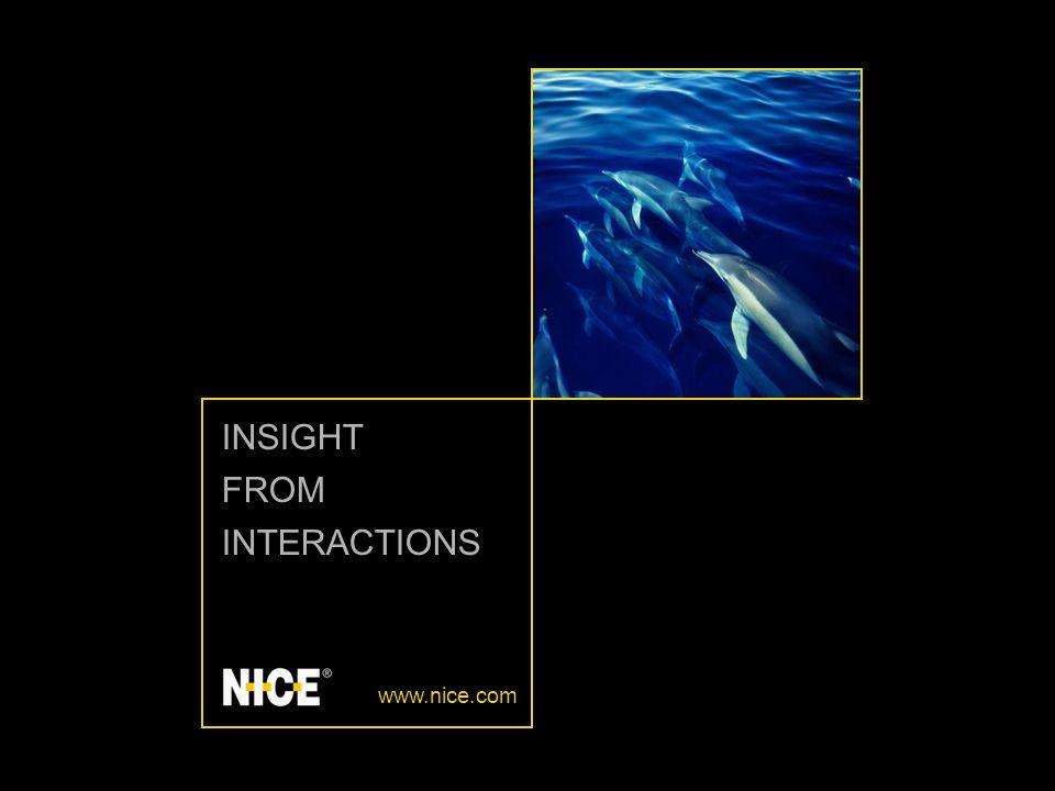 Insight from Interactions 2 NICE PERFORM Wprowadzenie do funkcji NICE Perform Solution