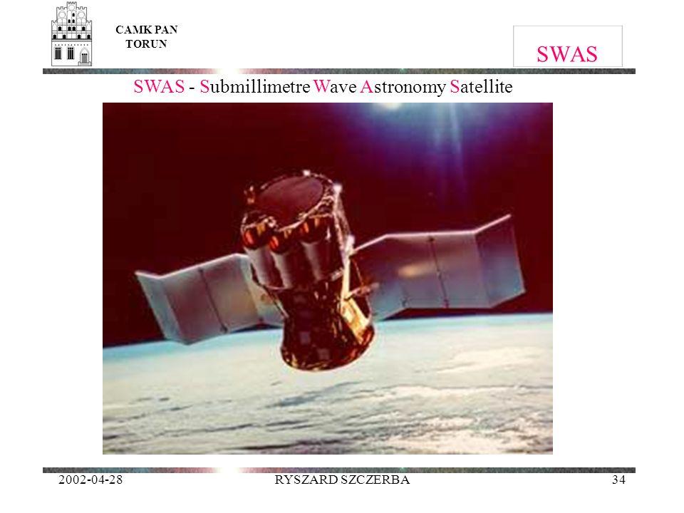 2002-04-28RYSZARD SZCZERBA34 SWAS CAMK PAN TORUN SWAS - Submillimetre Wave Astronomy Satellite