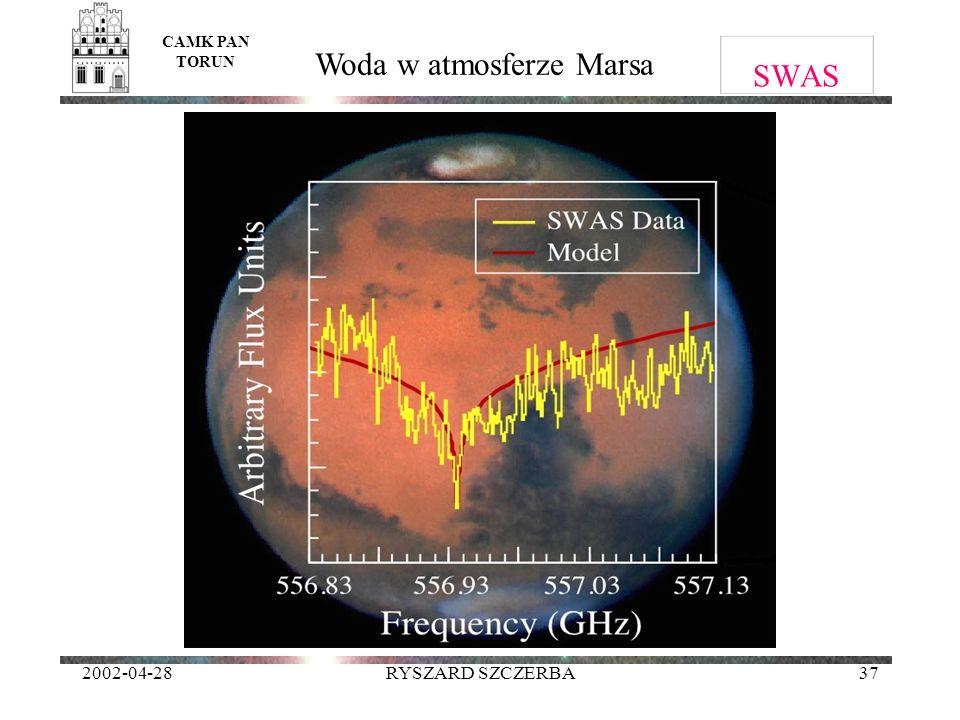 2002-04-28RYSZARD SZCZERBA37 SWAS CAMK PAN TORUN Woda w atmosferze Marsa