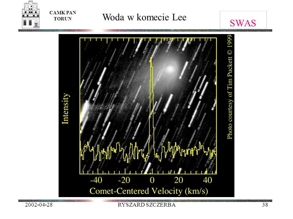 2002-04-28RYSZARD SZCZERBA38 SWAS CAMK PAN TORUN Woda w komecie Lee