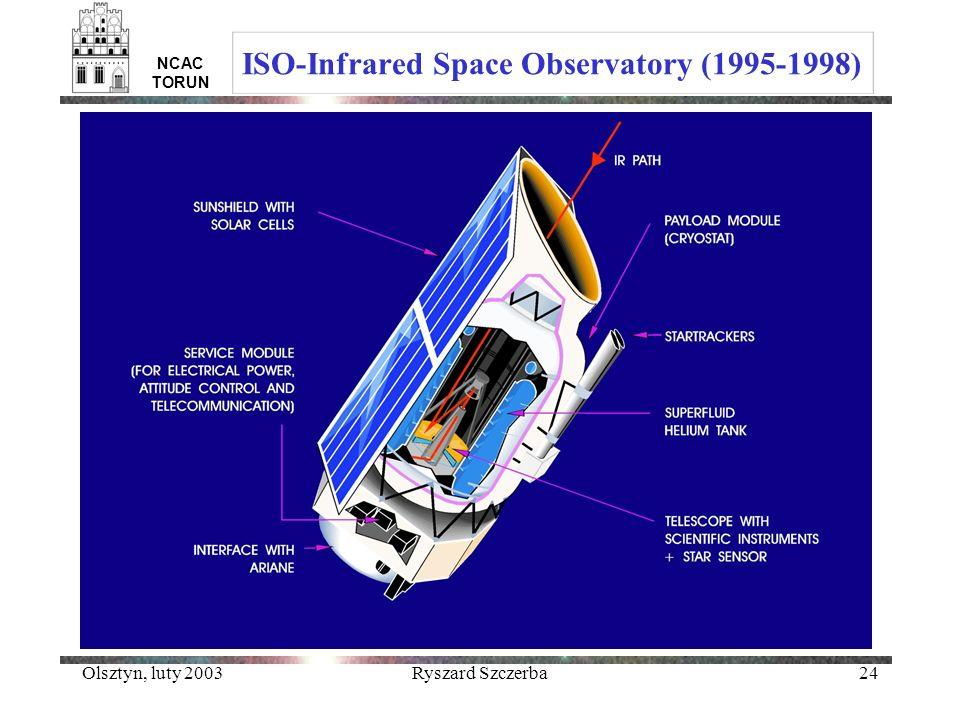 Olsztyn, luty 2003Ryszard Szczerba24 NCAC TORUN ISO-Infrared Space Observatory (1995-1998)