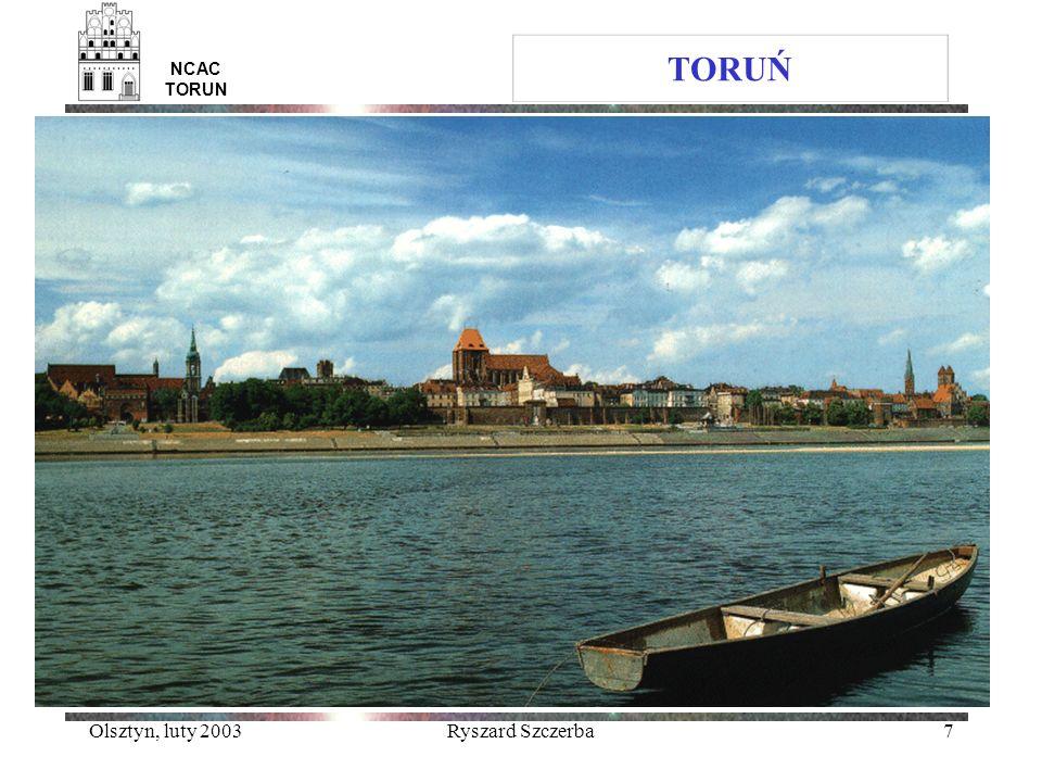 Olsztyn, luty 2003Ryszard Szczerba7 NCAC TORUN TORUŃ