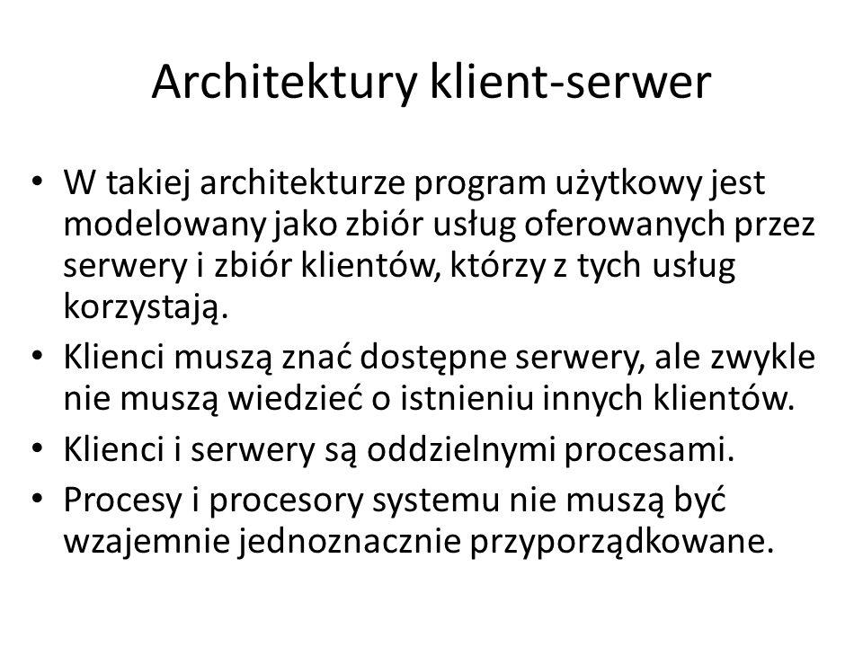 Typy serwerów sieciowych Serwery plików Serwery aplikacji Serwery wydruku Serwery www Serwery komunikacyjne Inne, np. DNS Serwery poczty