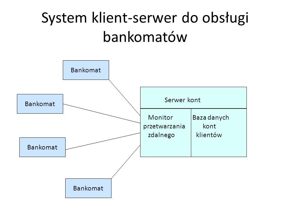 Model klienta grubego Korzysta się z dostępnej mocy obliczeniowej klienta przekazując mu zarówno przetwarzanie związane z logiką programu użytkowego,