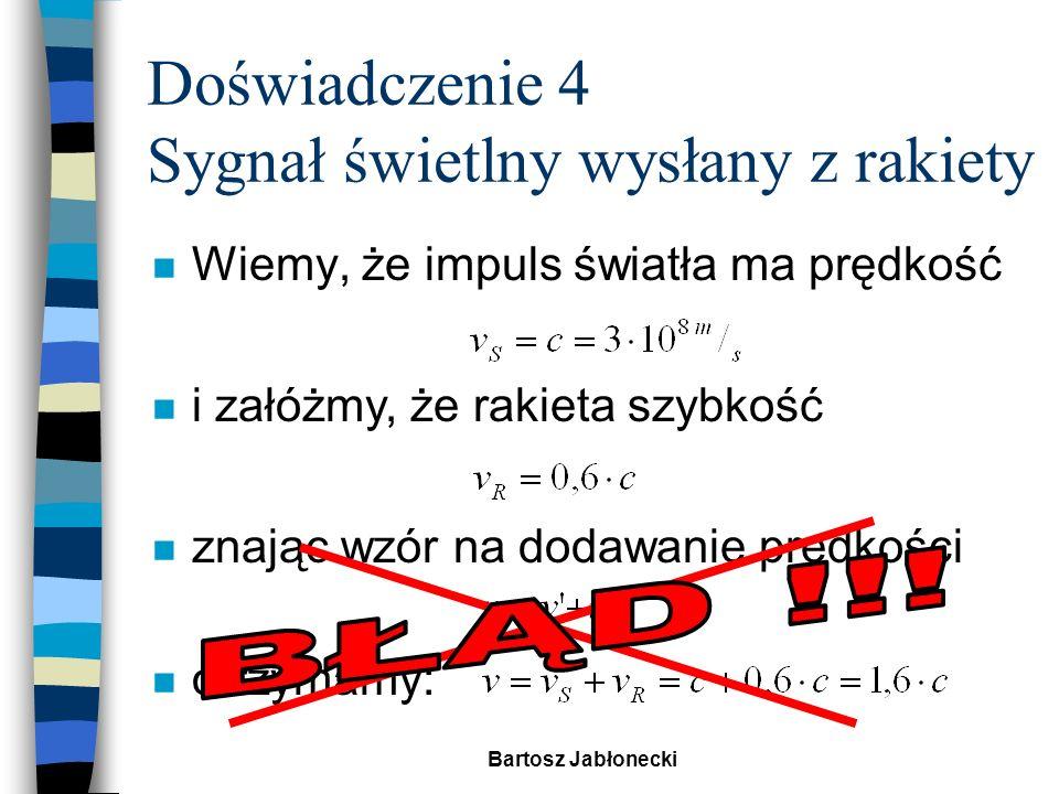 Bartosz Jabłonecki Relatywistyczne prawo składania prędkości