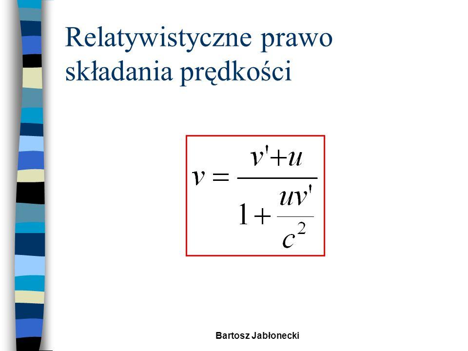 Bartosz Jabłonecki Doświadczenie 4 Sygnał świetlny wysłany z rakiety n Obliczmy jeszcze raz