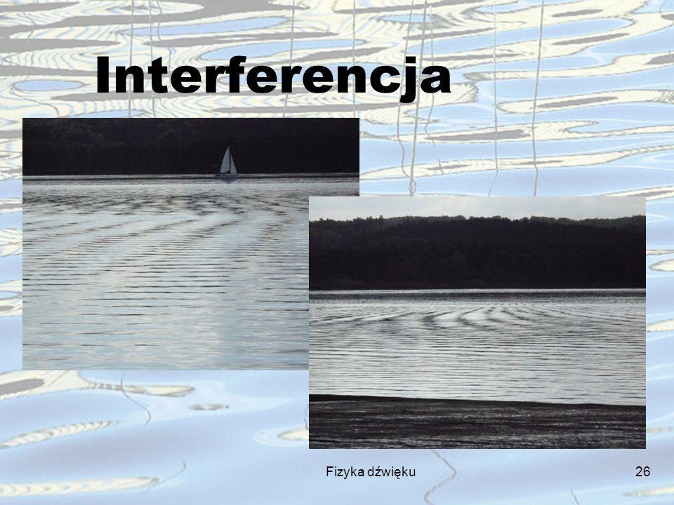 Fizyka dźwięku26 Interferencja