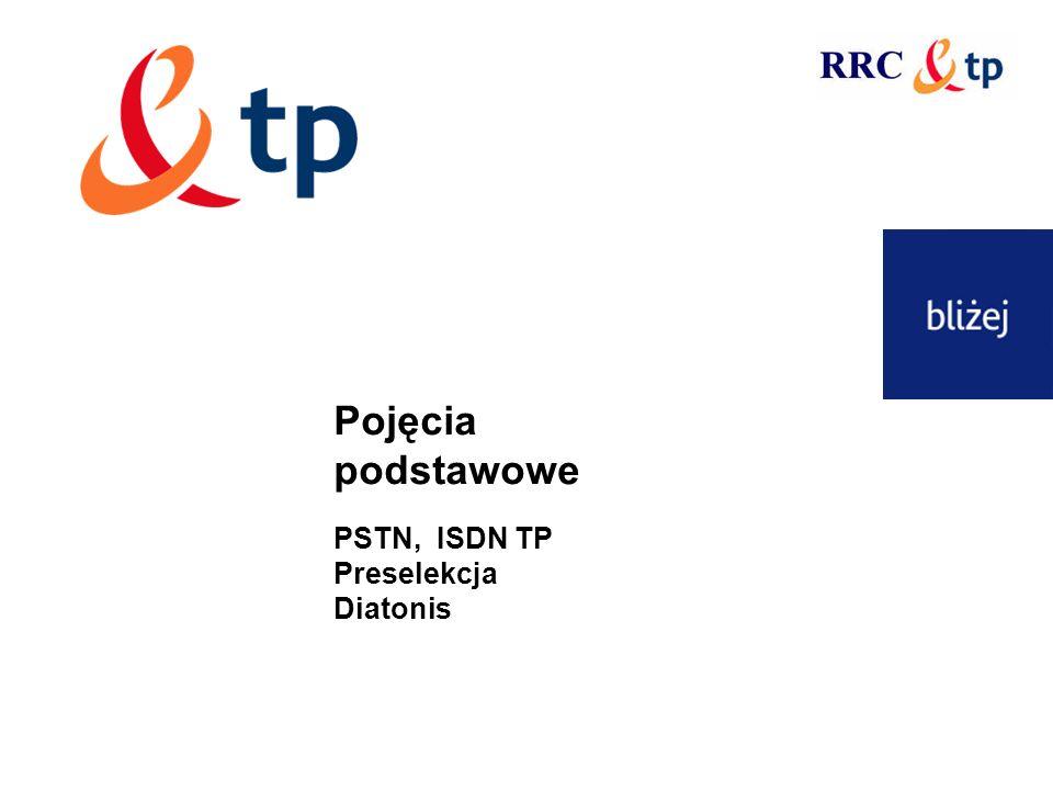 Pojęcia podstawowe PSTN, ISDN TP Preselekcja Diatonis