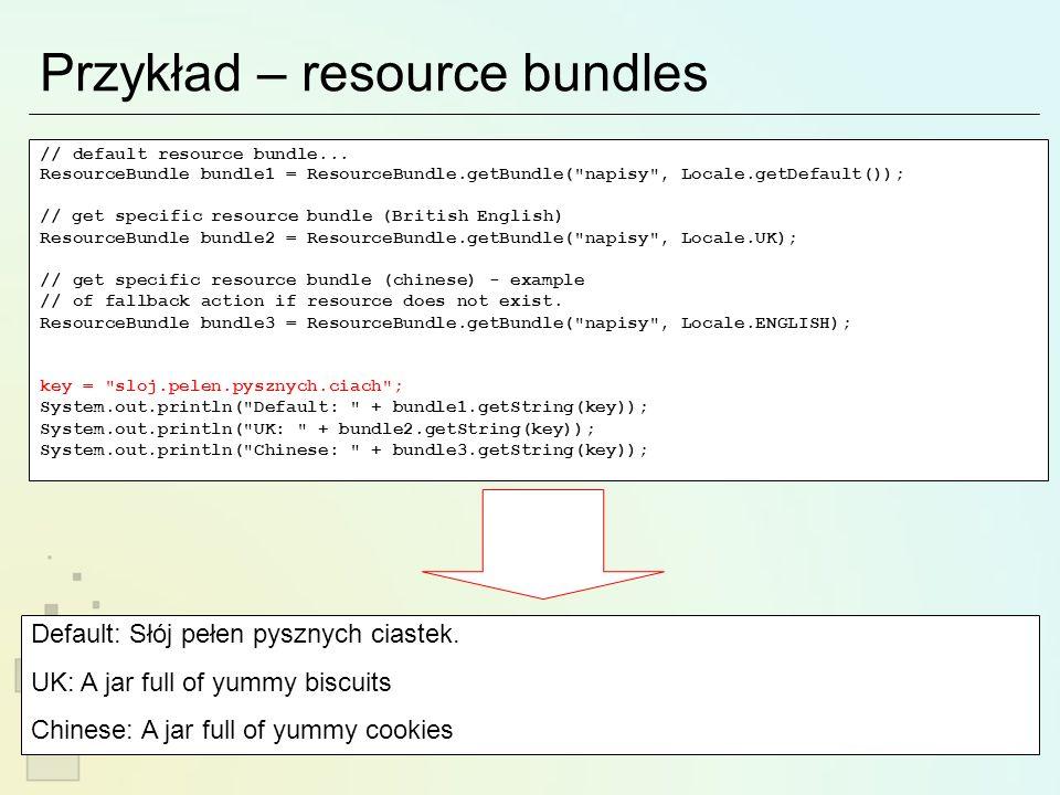 Inne sposoby… Foxtrot ( http://foxtrot.sourceforge.net/ ) http://foxtrot.sourceforge.net/ synchroniczna obsługa długich zadań wyjątki w miejscu wywołania