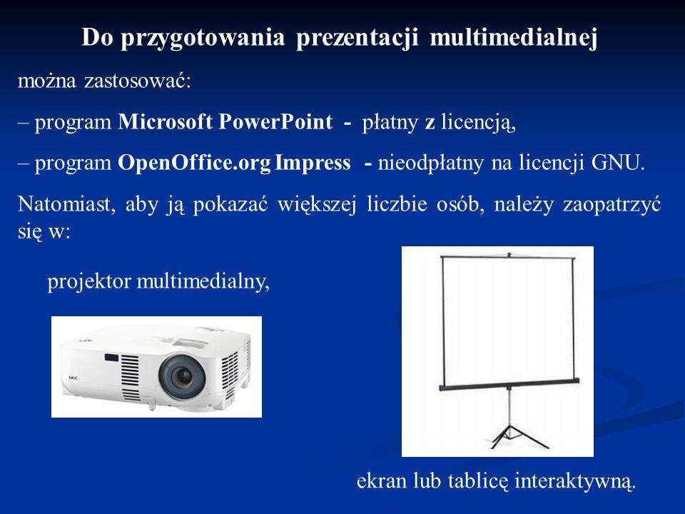Prezentacja multimedialna to pokaz lub wykład wspomagany opracowanymi komputerowo elementami multimedialnymi, takimi jak rysunki, zdjęcia, animacje, d