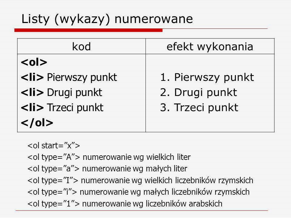 numerowanie wg wielkich liter numerowanie wg ma ł ych liter numerowanie wg wielkich liczebników rzymskich numerowanie wg ma ł ych liczebników rzymskic