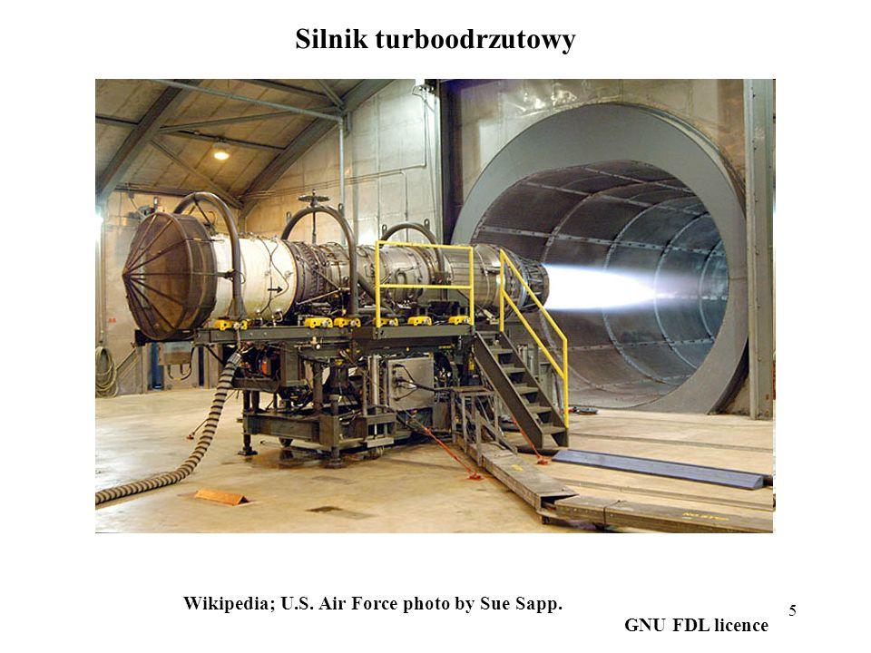 6 ©Jeff Dahl, from Wikipedia Schemat jednoprzepływowego silnika turboodrzutowego.