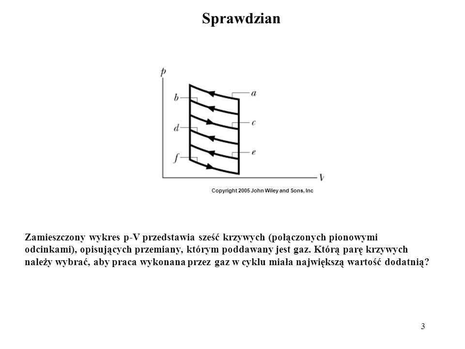 3 Sprawdzian Zamieszczony wykres p-V przedstawia sześć krzywych (połączonych pionowymi odcinkami), opisujących przemiany, którym poddawany jest gaz. K
