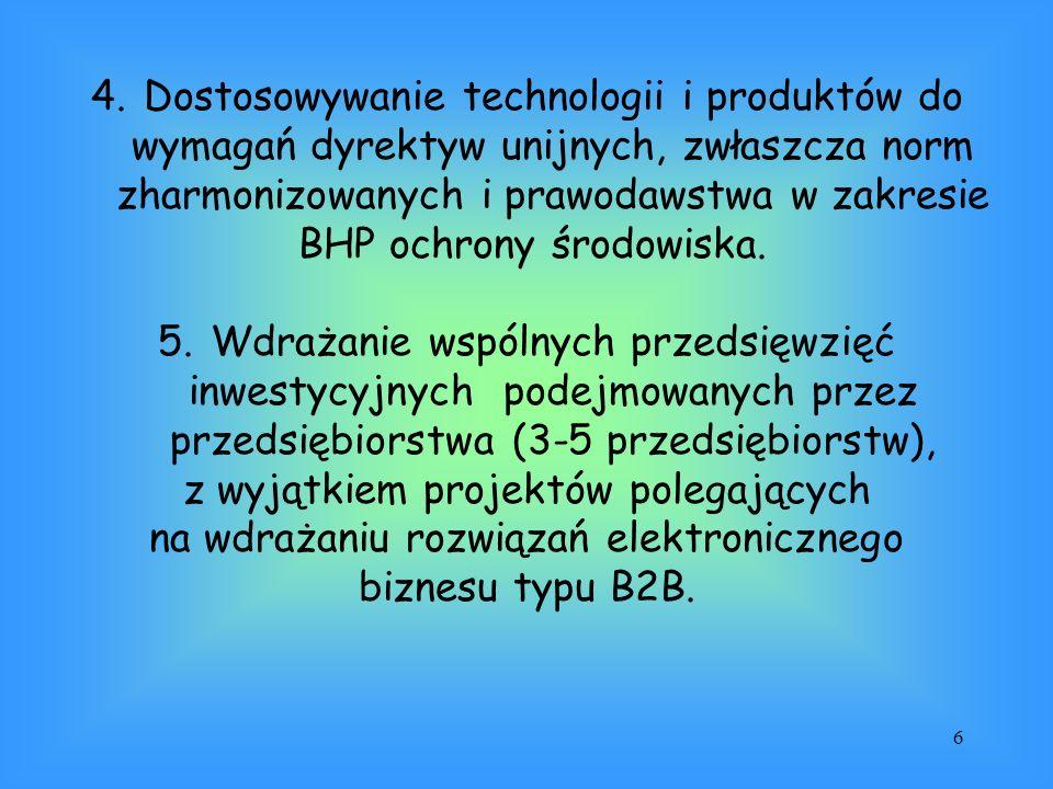 6 4.Dostosowywanie technologii i produktów do wymagań dyrektyw unijnych, zwłaszcza norm zharmonizowanych i prawodawstwa w zakresie BHP ochrony środowi