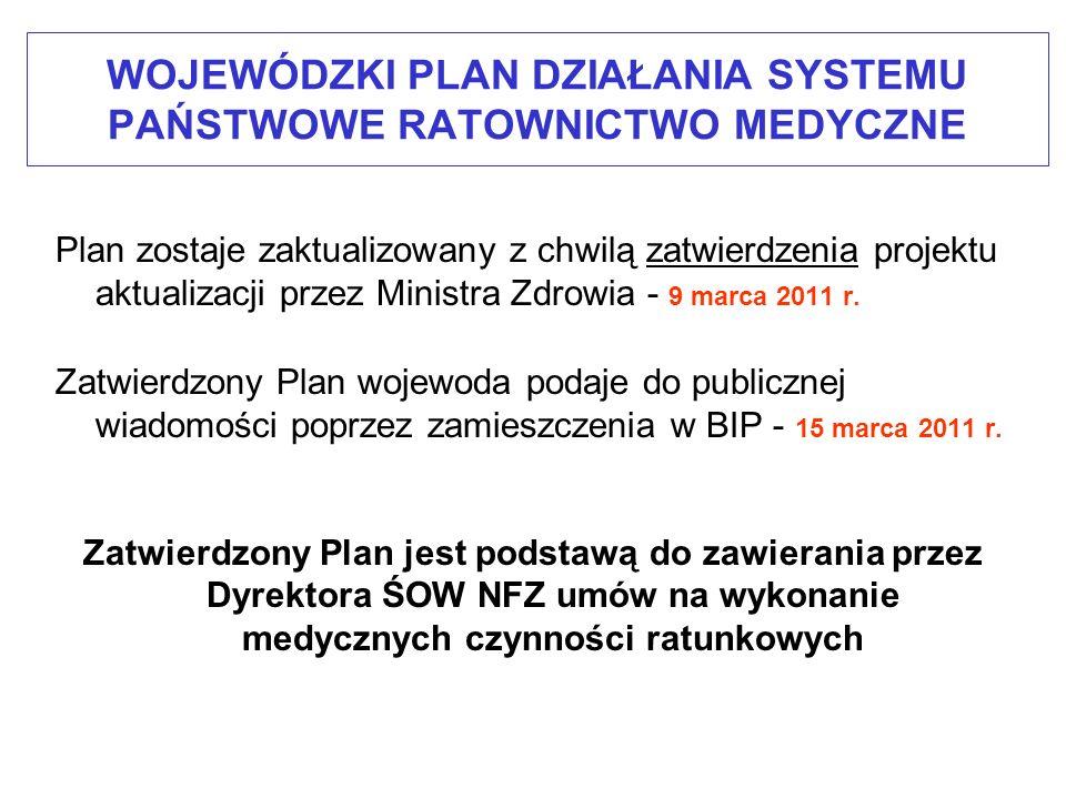 Planowane rejony dla dyspozytorni medycznych Planowana lokalizacja dyspozytorni medycznych