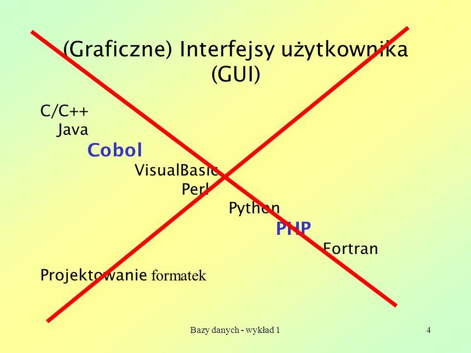 Bazy danych - wykład 125 Zwi ą zek wiele do wielu A = {x 1,x 2,x 3,x 4 } B={y 1,y 2,y 3,y 4,y 5 } Interface A{ … relationship Set R 1 inverse B::R 2 ; }; Interface B{ … relationship Set R 2 inverse A::R 1 ; };