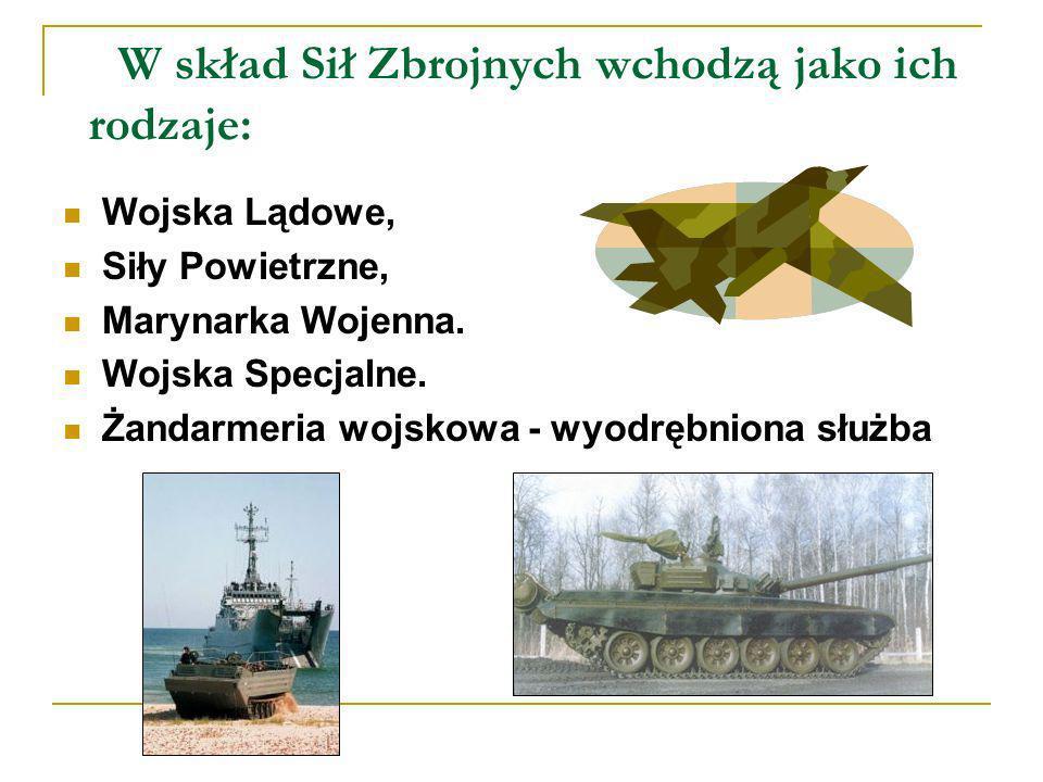 Wojska Lądowe Wojska Lądowe, przeznaczone są do zapewnienia obrony przed atakiem lądowo-powietrznym w dowolnym rejonie kraju, na każdym kierunku, w obliczu każdej formy zagrożenia militarnego.