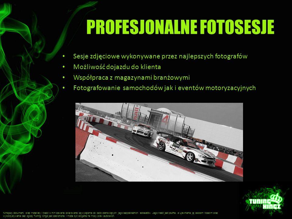 PROFESJONALNE FOTOSESJE Sesje zdjęciowe wykonywane przez najlepszych fotografów Możliwość dojazdu do klienta Współpraca z magazynami branżowymi Fotogr
