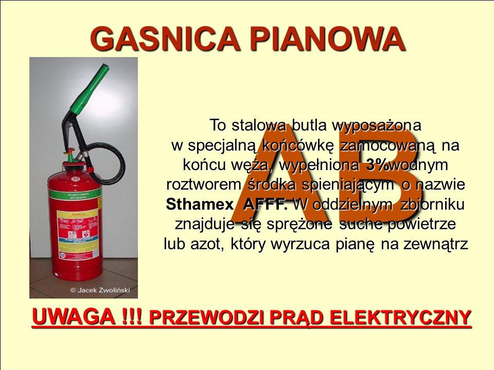 PIASEK Piasek to powszechnie dostępny środek, mogący skutecznie powstrzymać rozprzestrzenianie się ognia. Jego właściwości gaśnicze polegają głównie n