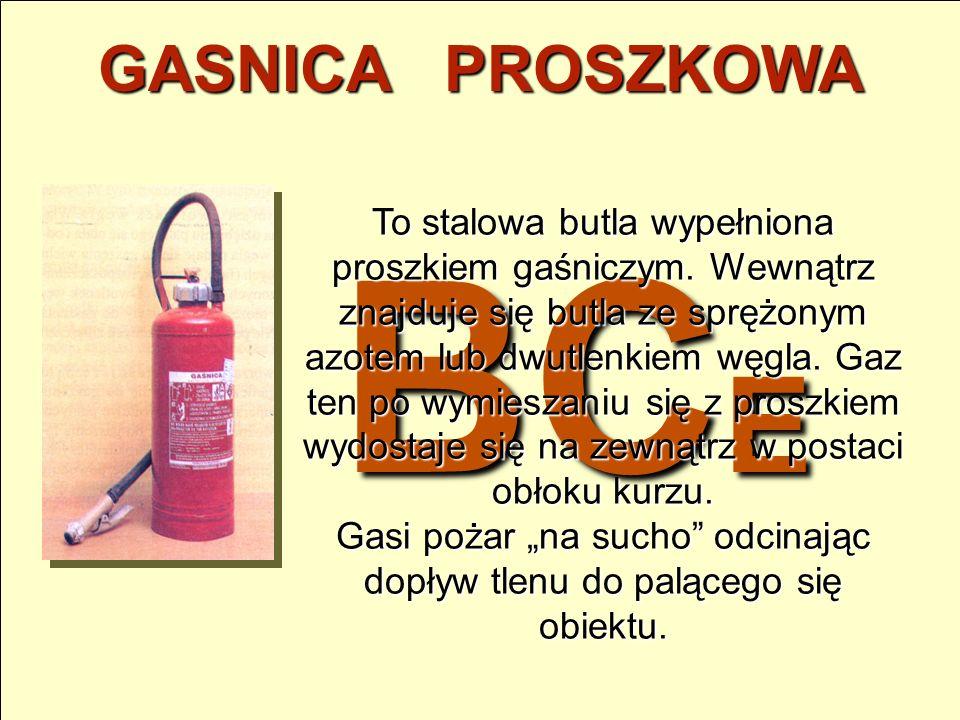 AB GASNICA PIANOWA To stalowa butla wyposażona w specjalną końcówkę zamocowaną na końcu węża, wypełniona 3%wodnym roztworem środka spieniającym o nazw