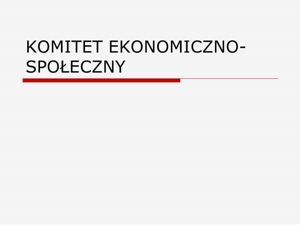 Komitet Ekonomiczno-Społeczny - skład przedstawiciele organizacji pracodawców, pracowników oraz inni przedstawiciele podmiotów reprezentujących społeczeństwo obywatelskie, w szczególności z dziedzin społeczno-ekonomicznej, obywatelskiej, zawodowej i kultury – art.