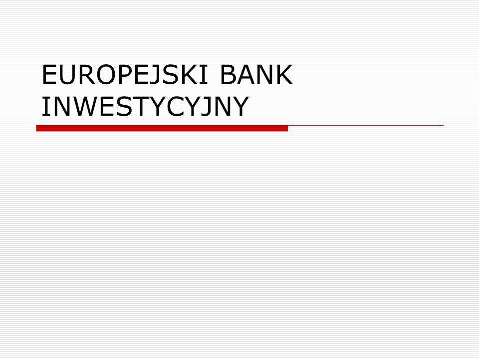 Europejski Bank Inwestycyjny EBI ma osobowość prawną – art.