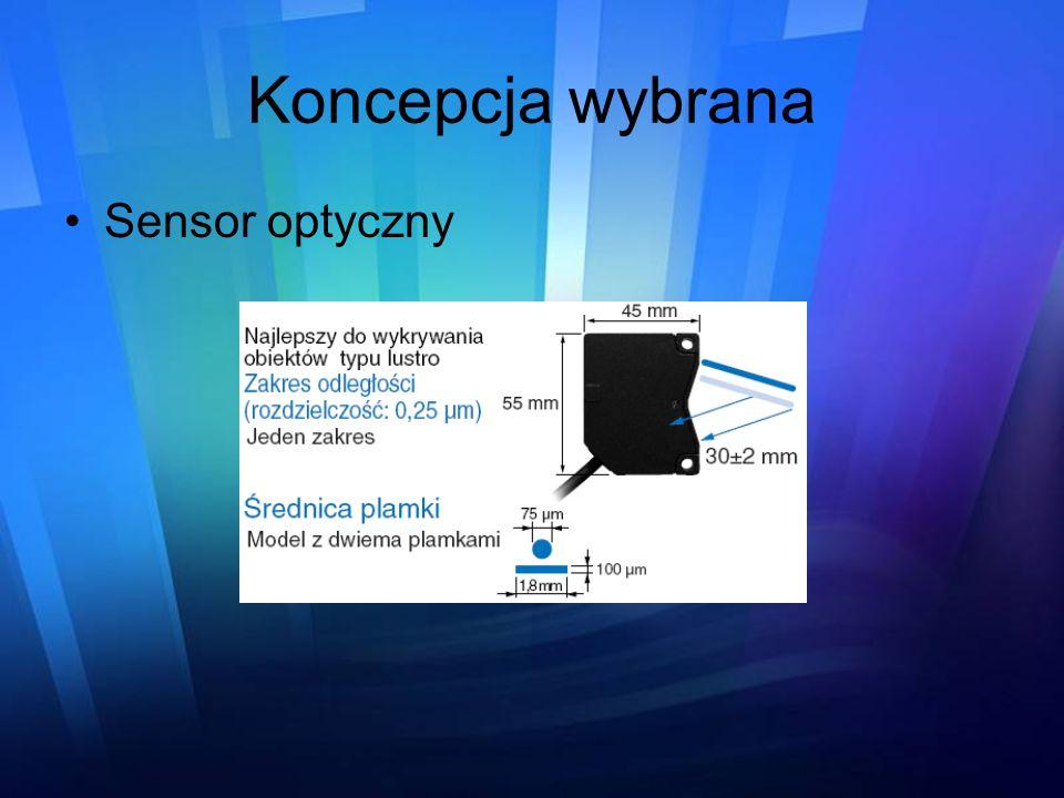Koncepcja wybrana Sensor optyczny