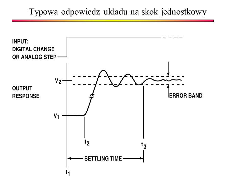 Typowa odpowiedz układu na skok jednostkowy