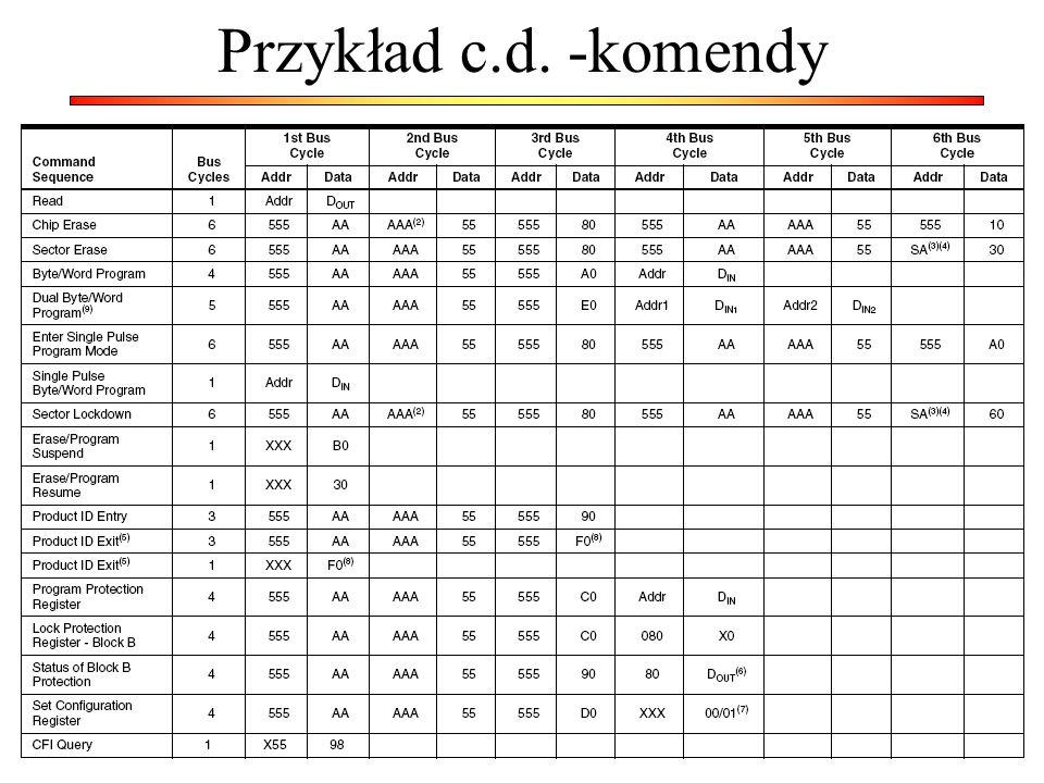 Przykład c.d. -komendy