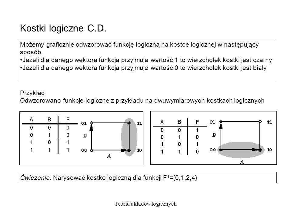 Teoria układów logicznych Kostki logiczne C.D.