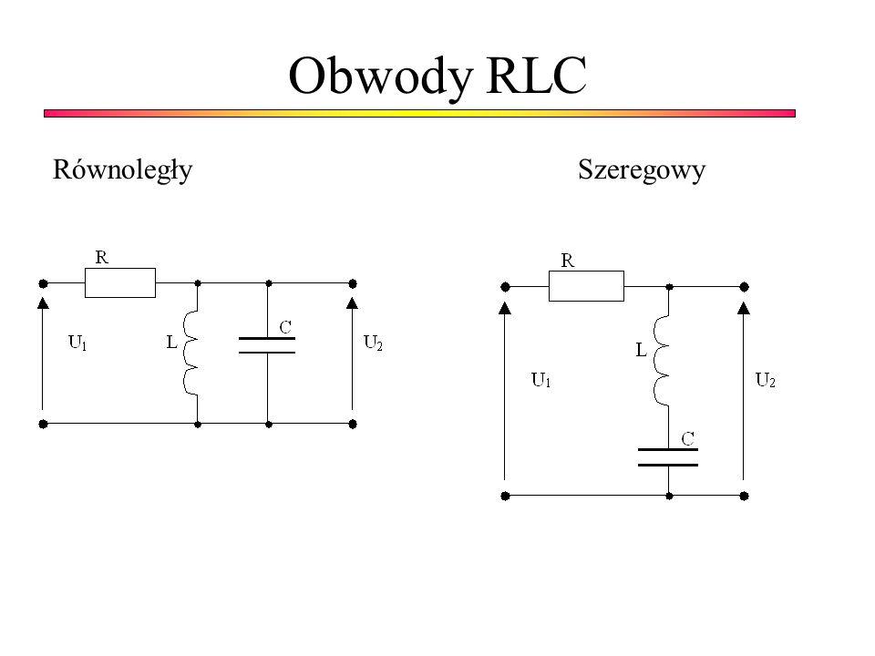 Obwody RLC RównoległySzeregowy