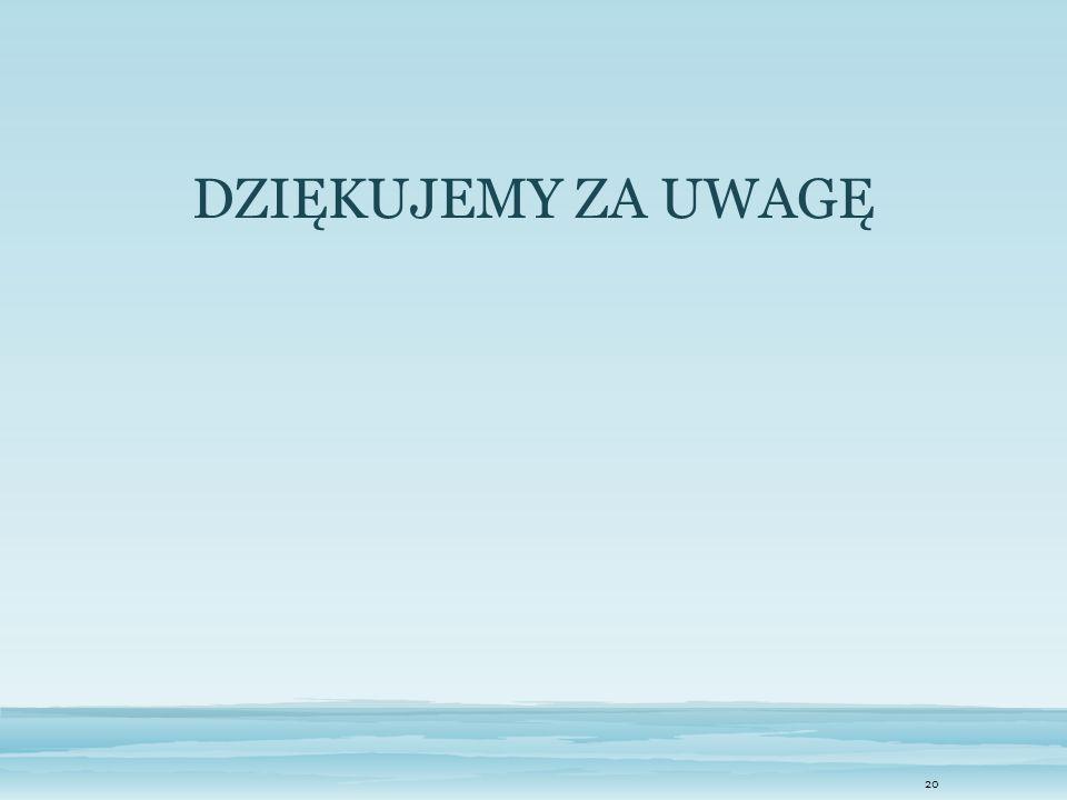 20 DZIĘKUJEMY ZA UWAGĘ