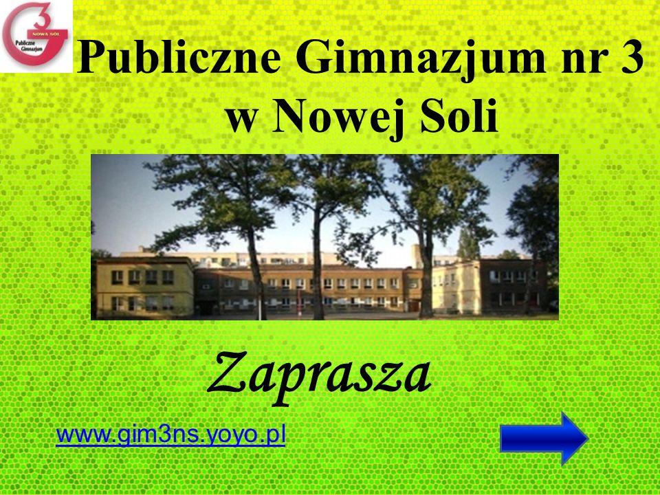 Publiczne Gimnazjum nr 3 w Nowej Soli Zaprasza www.gim3ns.yoyo.pl