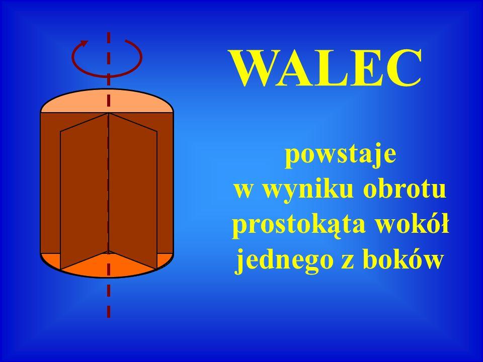 r H r H - promień podstawy - wysokość walca oś obrotu OPIS WALCA