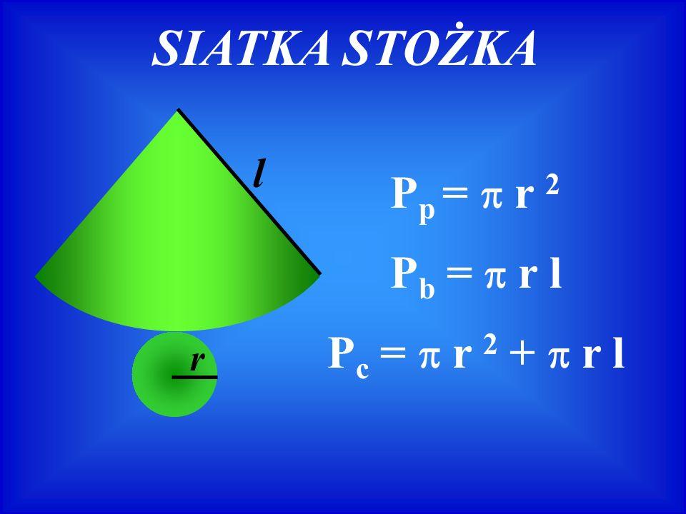 ZADANIE 4 Trójkąt prostokątny obraca się wokół jednej z przyprostokątnych.