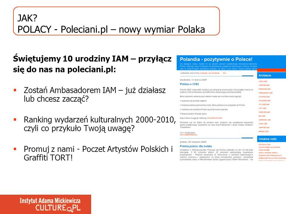 JAK? POLACY - Poleciani.pl – nowy wymiar Polaka Świętujemy 10 urodziny IAM – przyłącz się do nas na poleciani.pl: Zostań Ambasadorem IAM – już działas