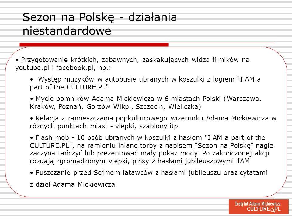Przygotowanie krótkich, zabawnych, zaskakujących widza filmików na youtube.pl i facebook.pl, np.: Występ muzyków w autobusie ubranych w koszulki z log