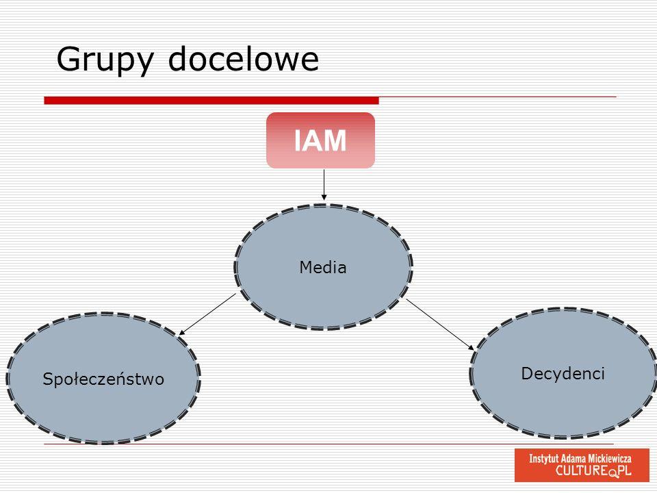 Decydenci Społeczeństwo Media IAM Grupy docelowe